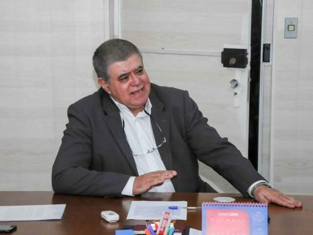 Marun durante reunião em visita a Capital. (Foto: Paulo Francis)