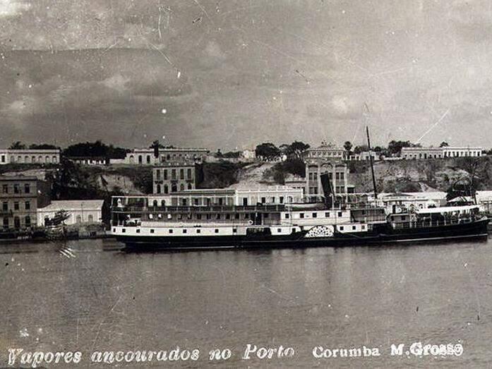 Porto de Corumbá em 1930: moeda esterlina, comércio de peles, tecidos franceses (Foto: Divulgação)