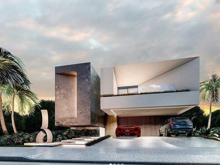 Projeto 3D residencial no México. (Foto: Castro Arquitetos)