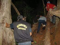 Adolescentes acompanharam a morte da garota bebendo e usando drogas. Corpo foi encontrado pela mãe embaixo de uma árvore(Foto: Dourados News)