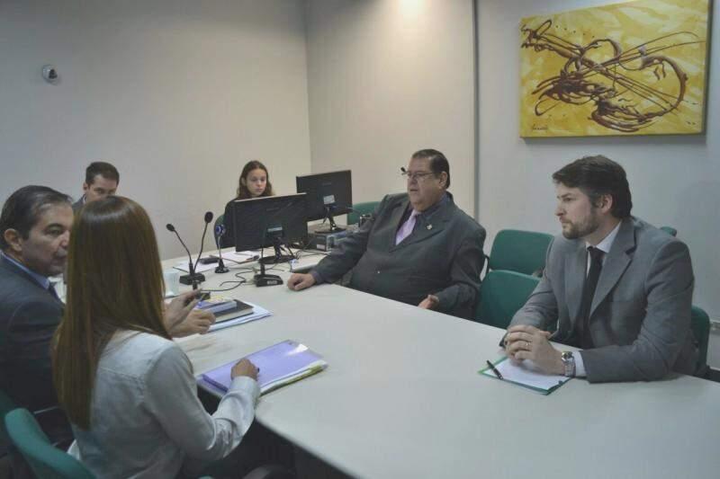 Audiência no Fórum da capital busca acordo para resolver problema da superlotação no Presídio de Segurança Máxima (Foto: Michel Faustino)