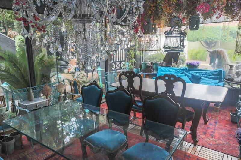Gazebo será sala turquesa, com todos os produtos à venda. (Foto: Fernando Antunes)