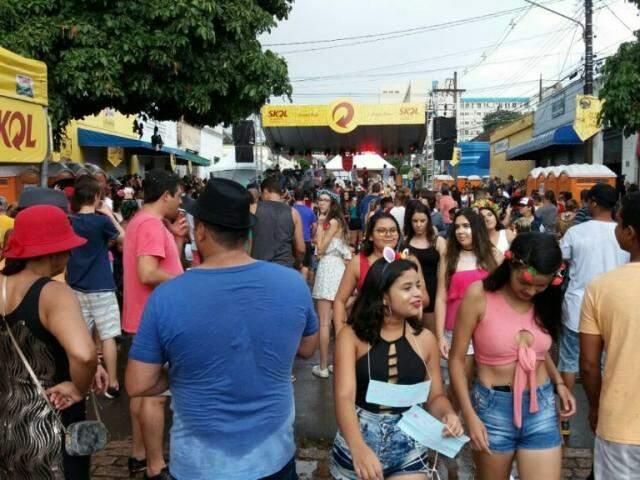 Concentração do Cordão Valu no último dia de festa. (Foto: Eva Lima/ Cordão Valu)