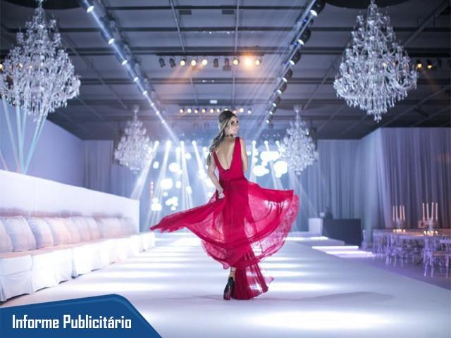 Melissa surgiu de vermelho, na festa total white. Foto: Maurício Paulino