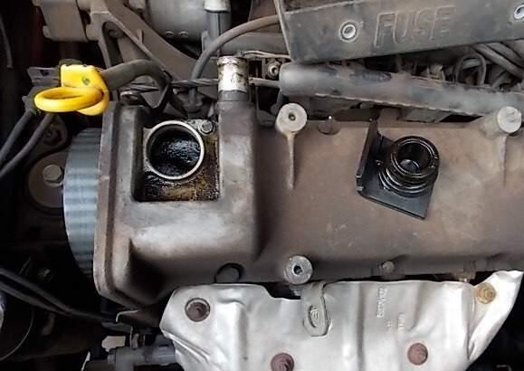 Motor carbonizado. Foto: Márcio Martins