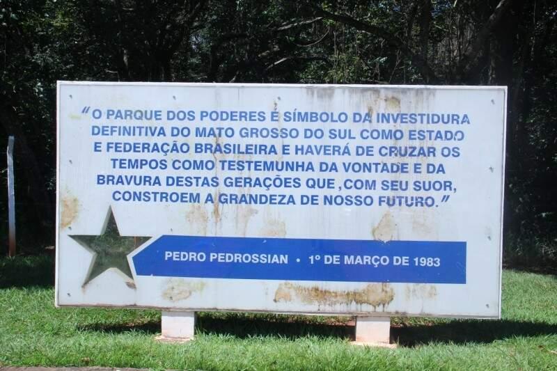 Parque dos Poderes foi inaugurado em 1983 na Capital. (Foto: Alan Nantes/Arquivo)