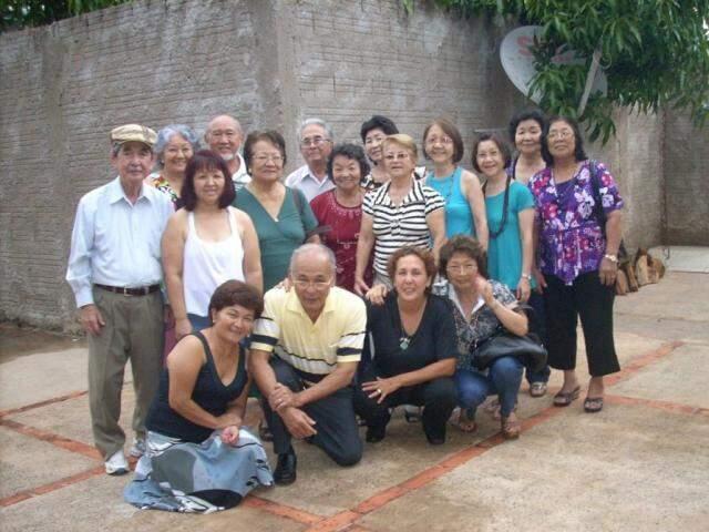 Os formandos do curso de inclusão digital em 2011 (Foto: Arquivo pessoal)