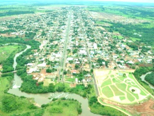 Vista aérea de Costa Rica, cidade que lidera ranking de gestão pública no país. (Foto: MS Todo Dia/Reprodução)
