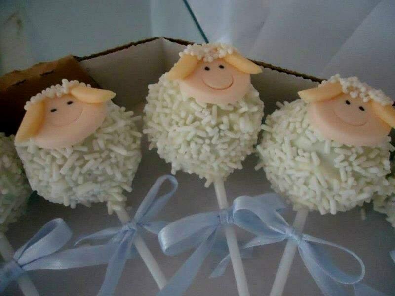 Popcake de ovelhinhas.  (Foto: Reprodução facebook)