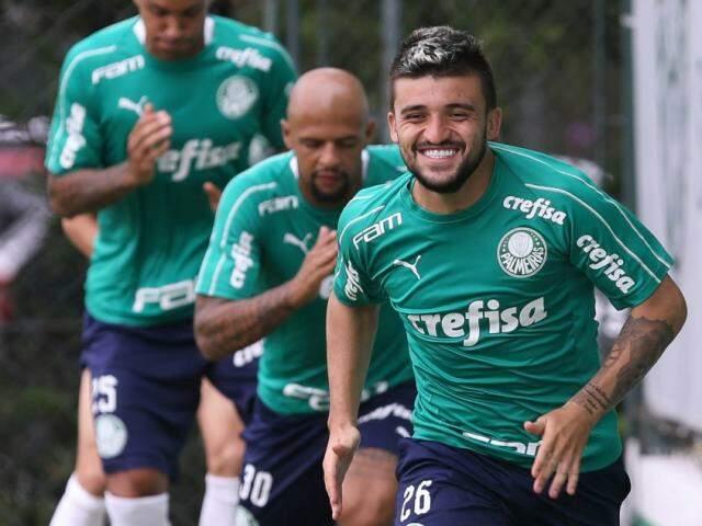 Treino do Palmeiras para o clássico deste sábado contra o Santos; Alviverde vai a campo com a melhor defesa do Paulistão. (Foto: César Greco/Agência Palmeiras)