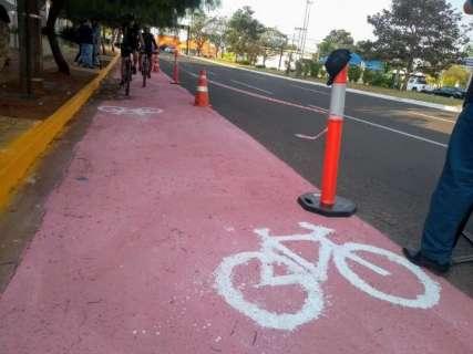 Prefeitura faz teste para implantação da ciclofaixa na Via Parque