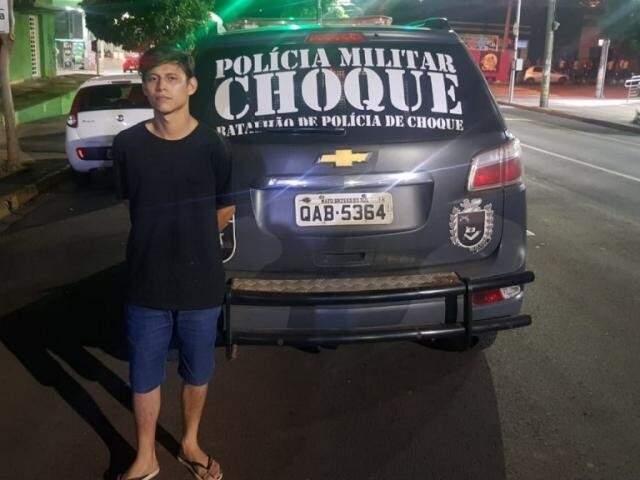 Pai foi preso pelo Batalhão de Choque da Polícia Militar. (Foto: Divulgação/BCPM)