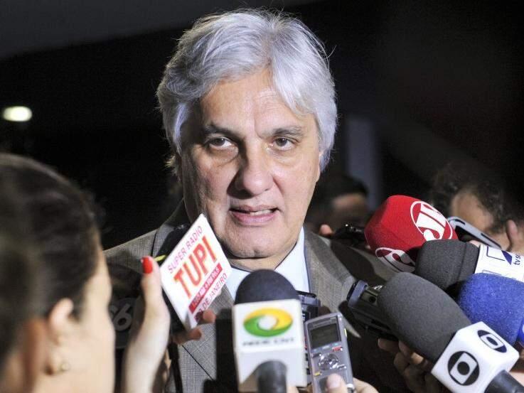 Delcídio do Amaral, ex-senador, durante entrevista no Senado em 2015 (Foto:  Jane de Araújo/Agência Senado)