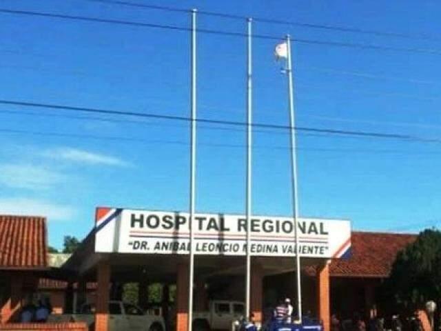 Menina com dengue hemorrágica está no hospital de Pedro Juan Caballero (Foto: Porã News)
