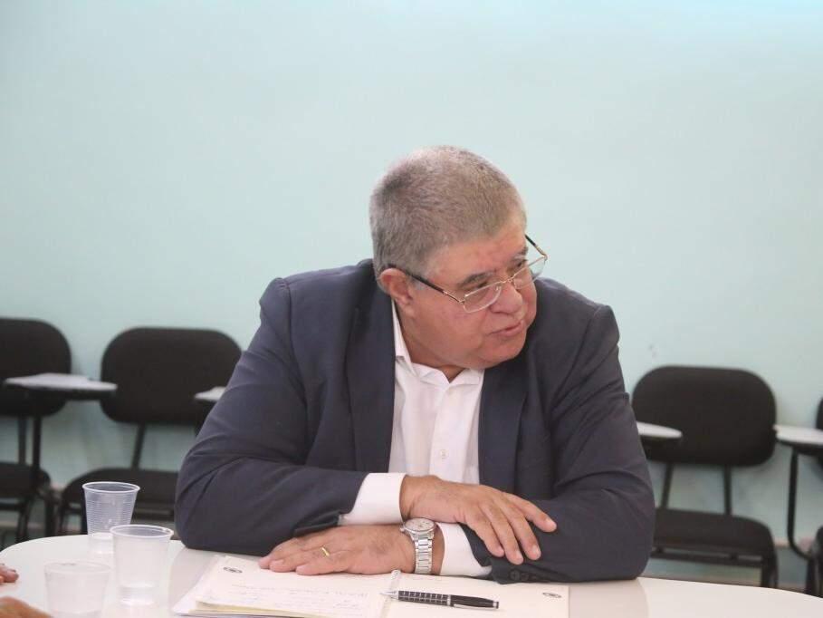 Ministro Carlos Marun, durante visita no Hospital de Câncer. (Foto: Paulo Francis).