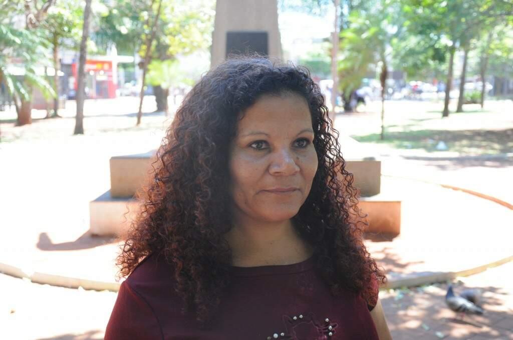 Luzineth Santos reclama da velocidade do horário eleitoral (Foto: Paulo Francis)