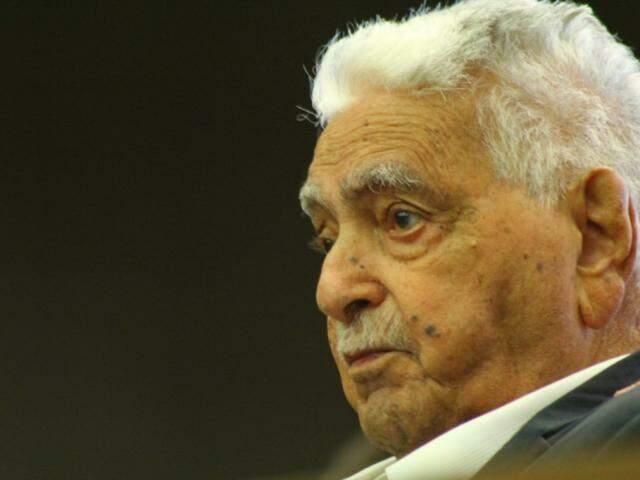 Ex-governador Pedro Pedrossian, que faleceu nesta terça-feira, dia 22. (Foto: Marcos Ermínio/Arquivo).