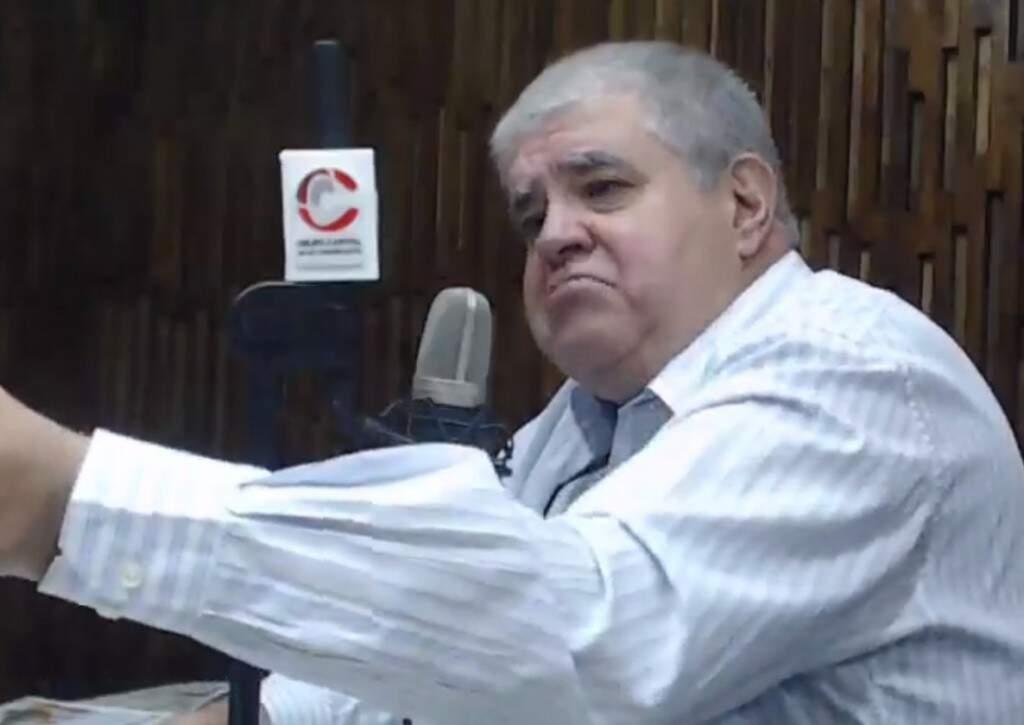 O ministro Carlos Marun, durante entrevista nesta manhã. (Foto: Reprodução Facebook)