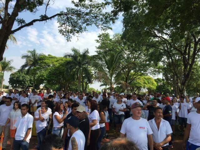 Protesto de trabalhadores da JBS no interior do estado (Foto: divulgação)