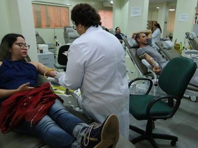 Hemosul registra queda vertiginosa nas doações em dias frios, por isso faz alerta a quem colabora para manter a rotina. (Foto: Assessoria de imprensa/governo de MS)