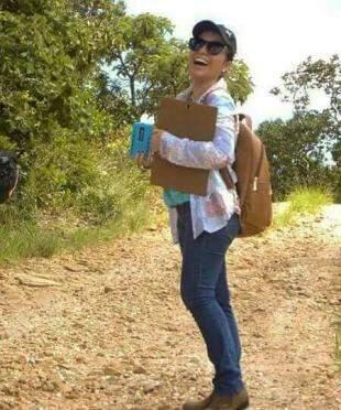 Em Jandaia, logo que Marta assumiu o concurso (Foto: arquivo pessoal)