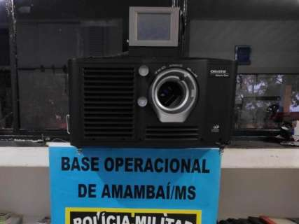 Polícia apreende na fronteira projetor de cinema avaliado em R$ 100 mil