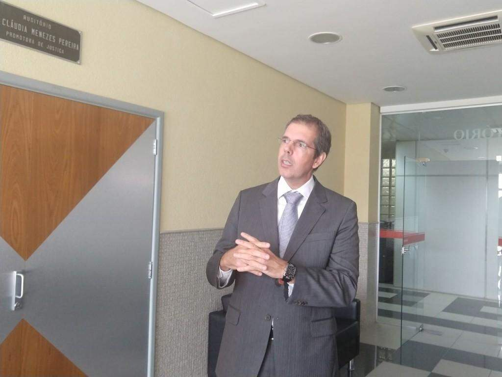 Promotor em entrevista (Foto: Liniker Ribeiro)