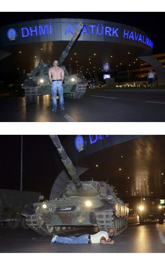 O turco que enfrentou tanques lutando pela democracia