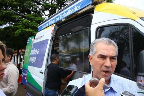 """""""Para aproximar do setor rural"""", diz Reinaldo em gabinete na Expogrande"""