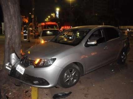 Racha em plena Afonso Pena termina em acidente após jogo do Brasil