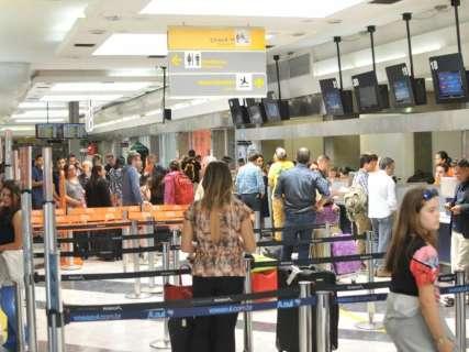 Movimento no aeroporto da Capital aumenta 1,24% no primeiro semestre