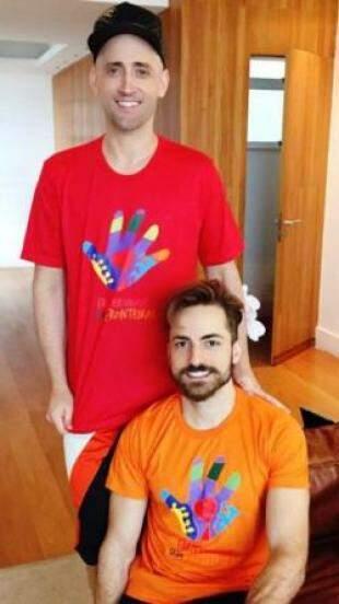 Ao lado do marido, o comediante Paulo Gustavo também aderiu a campanha. (Foto: Divulgação)