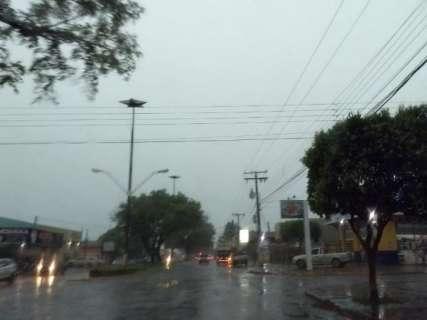 Chuva forte trouxe ventania, derrubou árvores e até cancelou show