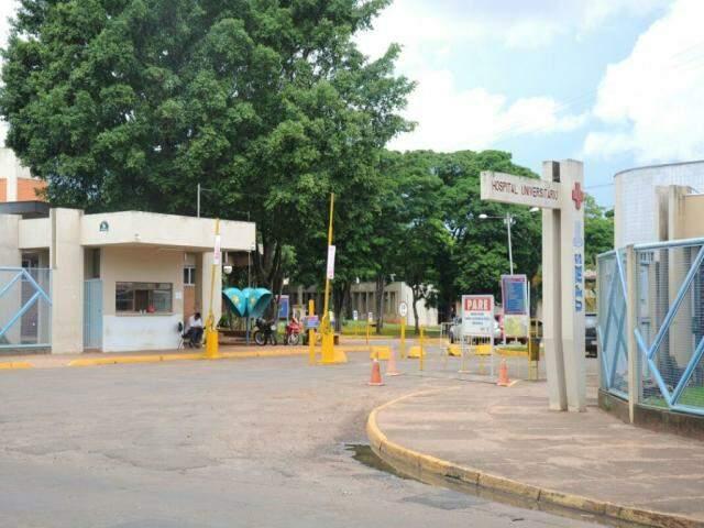 Fachada do Hospital Universitário, em Campo Grande (Foto: Paulo Frans)