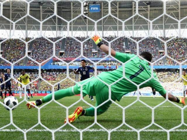Gol de pênalti marcado por Kagawa após expulsão de Sánchez (Foto: Fifa/divulgação)
