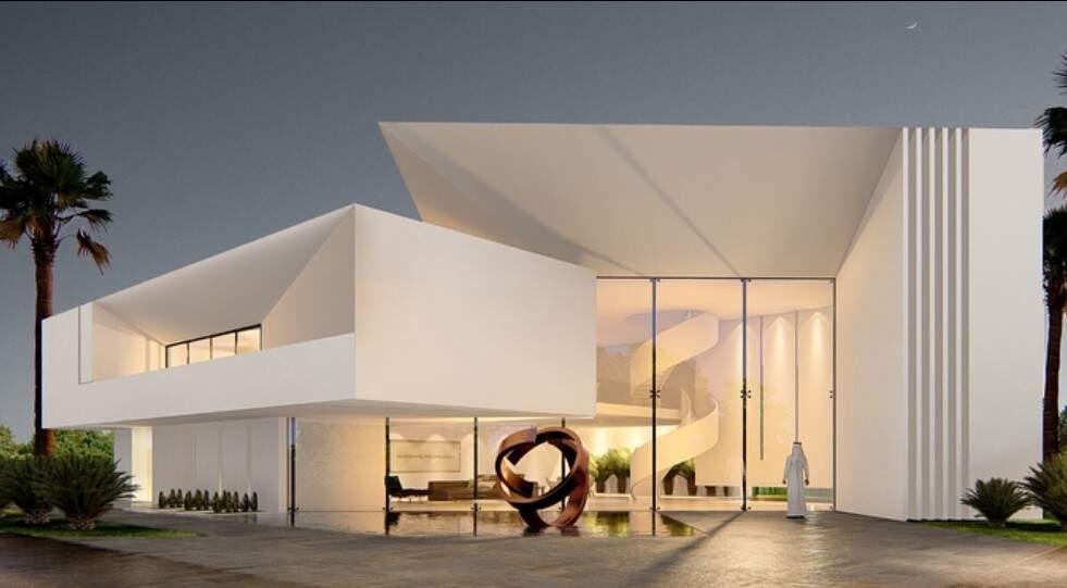 Projeto 3D residencial na Arábia Saudita. (Foto: Castro Arquitetos)