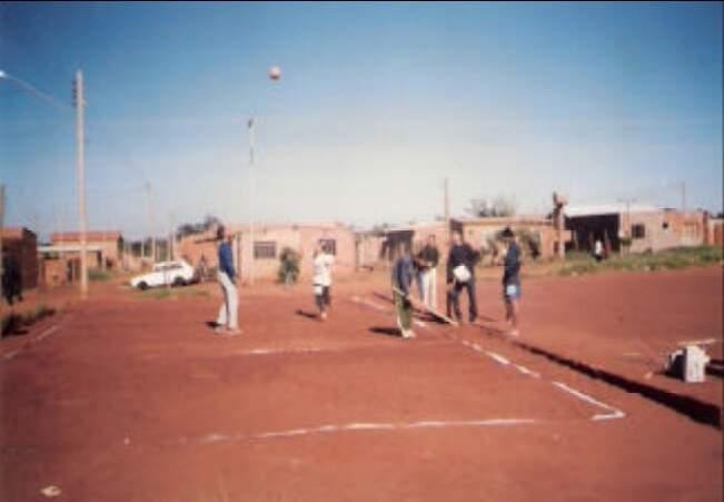 Campo de futebol do Zé Pereira em 1995. (Foto: Arquivo/Sanesul)