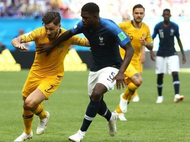 Apesar da vitória, França começou o jogo com rendimento abaixo do esperado (Foto: Fifa/divulgação)