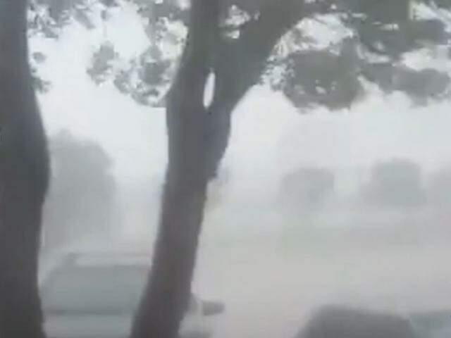 Chuva forte em Sete Queda