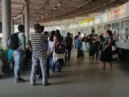 Rodoviária movimentada: 27 mil passam pelo terminal neste feriadão