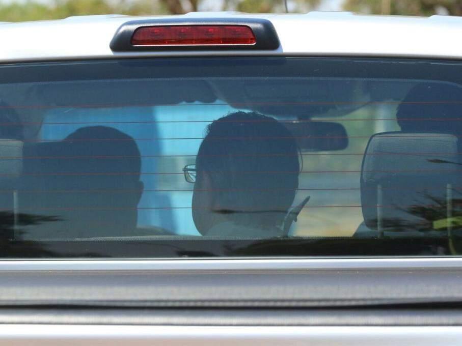 Ex-deputado deixando Imol, no dia em que foi preso. (Foto: André Bittar)