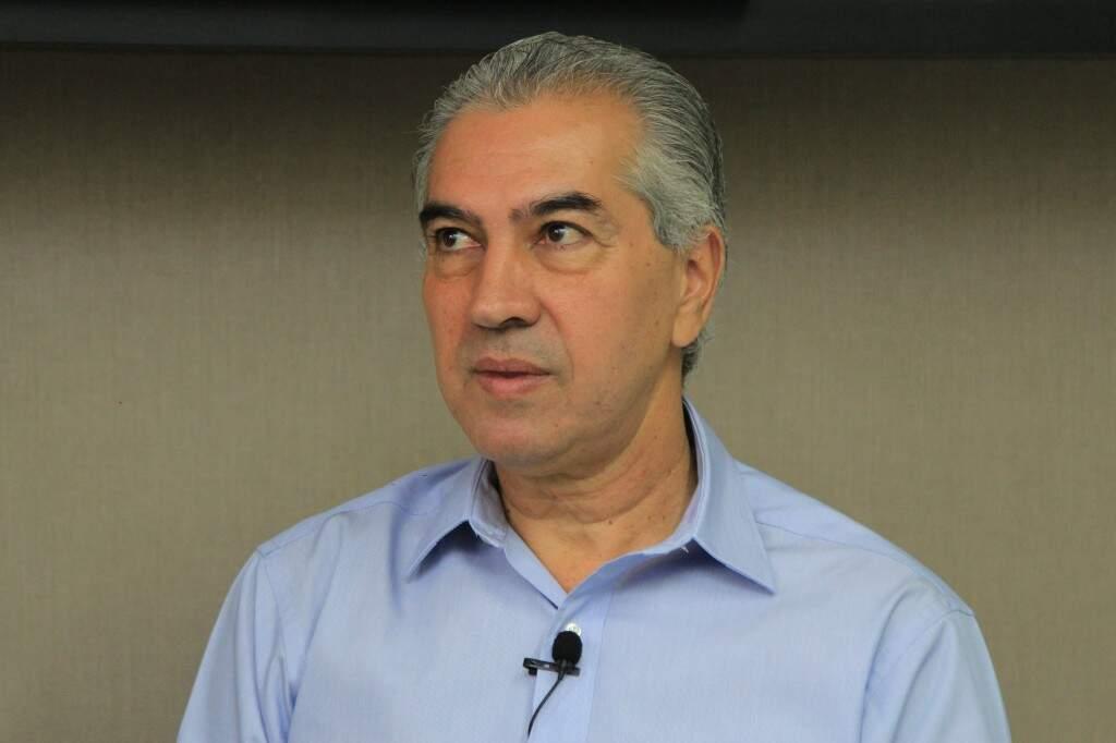 Candidato à reeleição, governador Reinaldo Azambuja (PSDB) (Marina Pacheco)