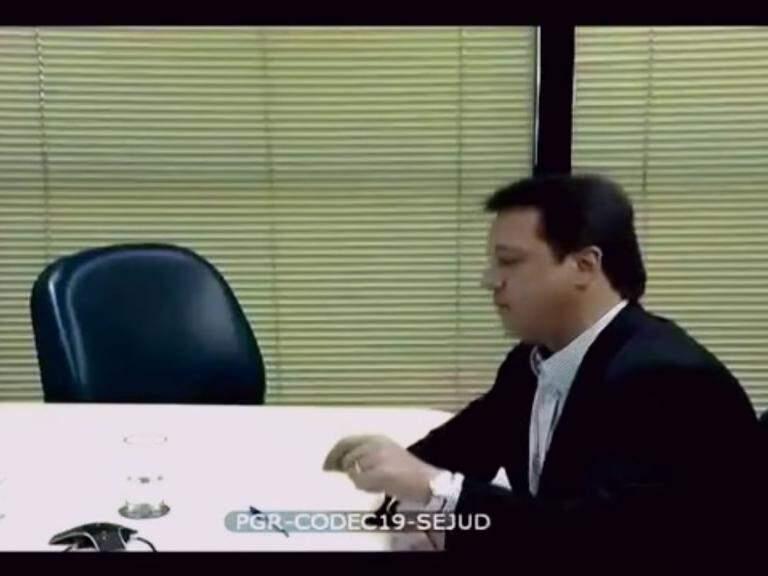 Wesley Batista durante depoimento a procuradores (Foto: Reprodução)