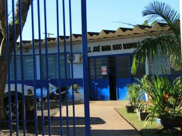 No dia 10, crianças da escola José Maria Hugo Rodrigues foram liberadas. (Foto: Marina Pacheco)