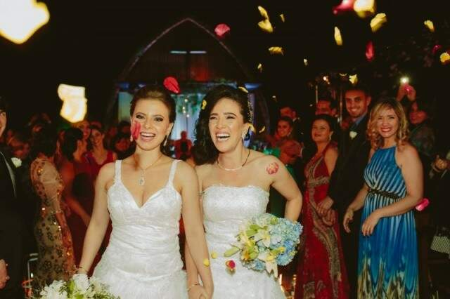 Casamento das empresárias Bruna Witwytzky e Nadja Toumani. (Fotos: Allan Kaiser)