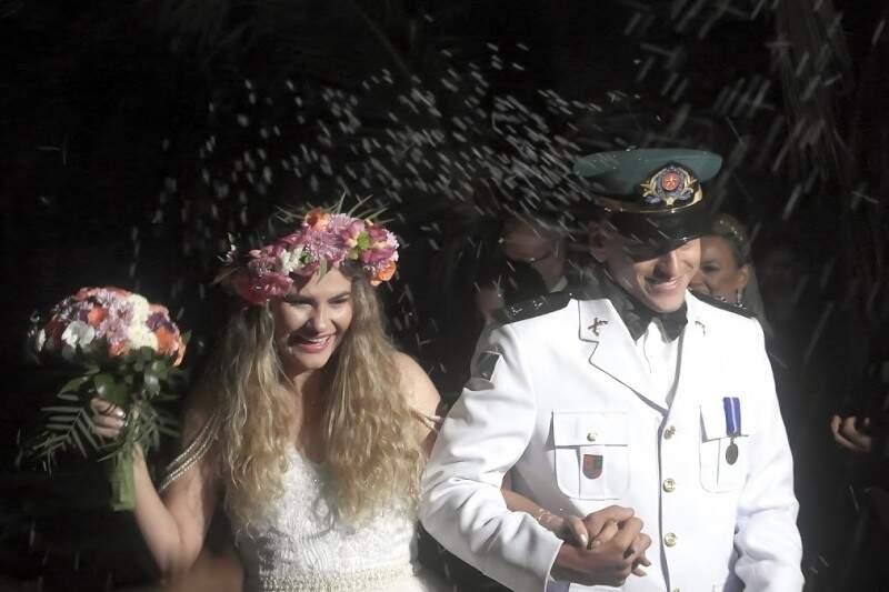 """Casal Ludmila e Luciano não se importaram em """"dividir"""" holofotes. (Foto: Arquivo Pessoal)"""