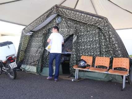 Sem demanda, Exército desativa tendas para pacientes com dengue