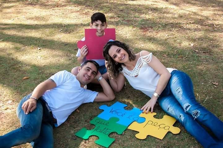 """Argemiro, Giselle e a """"peça"""" que faltava neles: João. (Foto: Wilson Mariz de Santana)"""