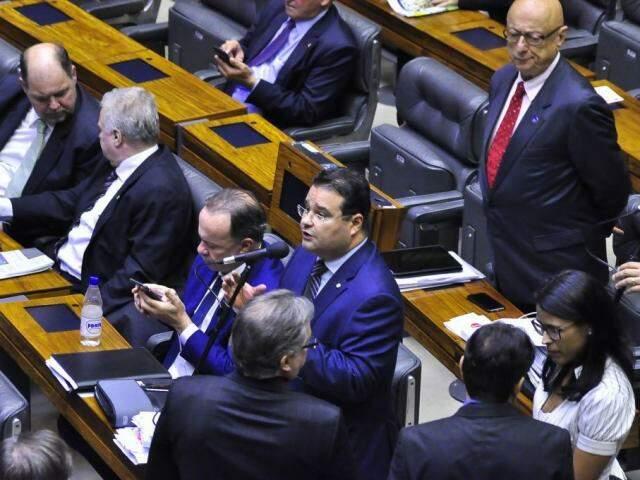 Deputados durante fala na Câmara dos Deputados. (Foto: Divulgação)