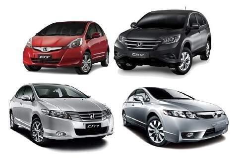 Recall: Honda convoca proprietários dos modelos Fit, City, Civic e CR-V